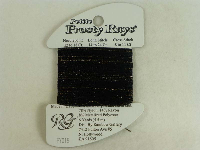 Petite Frosty Rays PY019 Black Sparkle Gloss