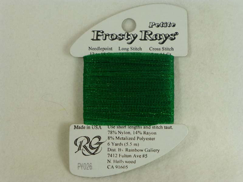 Petite Frosty Rays PY026 Christmas Green Gloss