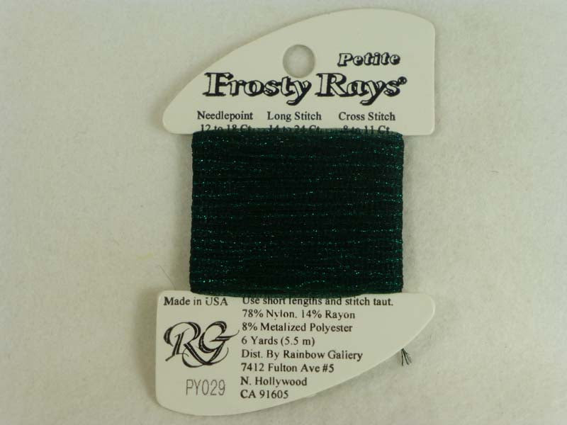 Petite Frosty Rays PY029 Deep Sea Green Gloss