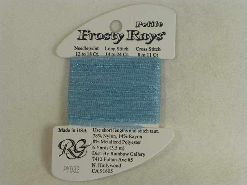 Petite Frosty Rays PY032 Lite Antique Blue Gloss