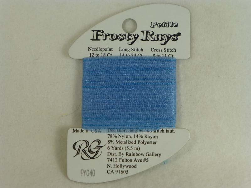 Petite Frosty Rays PY040 Medium Blue Gloss