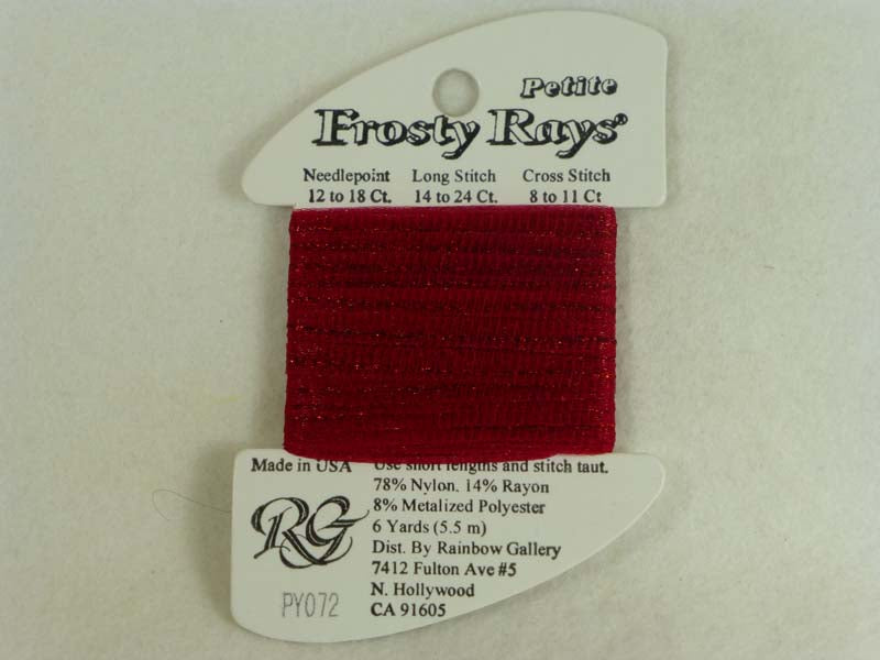 Petite Frosty Rays PY072 Dark Red Gloss