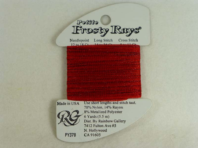 Petite Frosty Rays PY378 Ruby Red Gloss