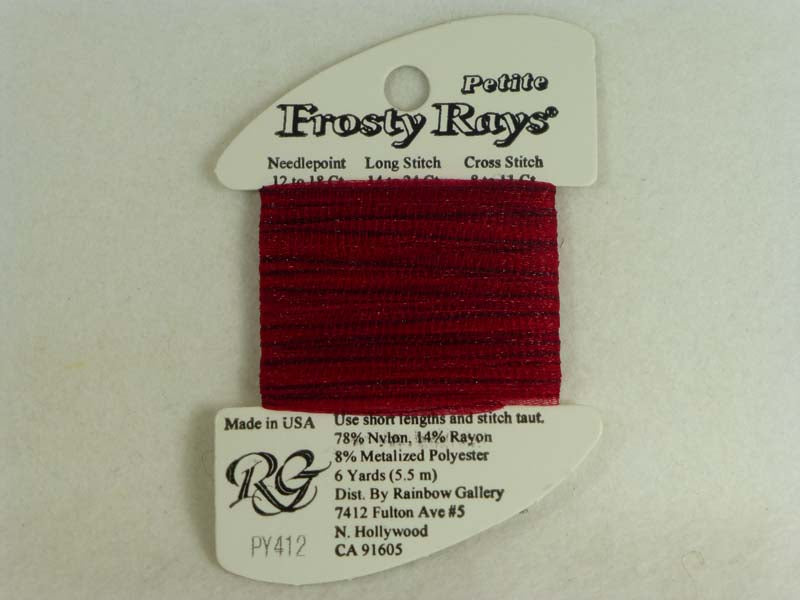 Petite Frosty Rays PY412 Black Cherry