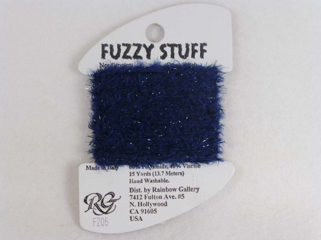 Fuzzy Stuff FZ05 Navy Blue by Rainbow Gallery From Beehive Needle Arts