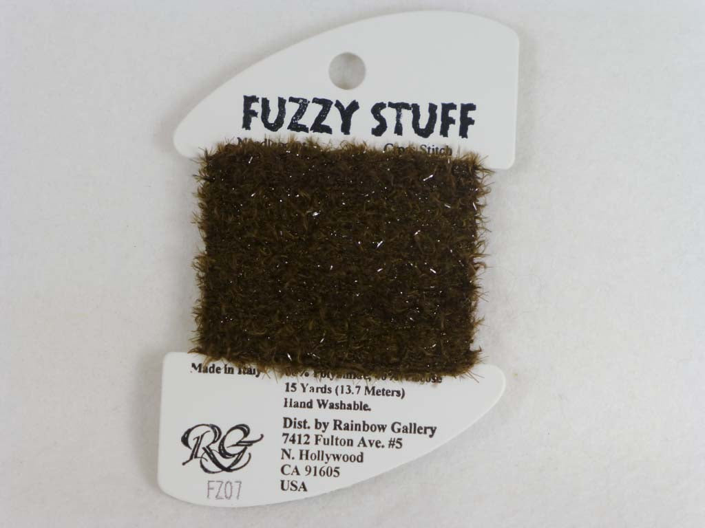 Fuzzy Stuff FZ07 Dark Brown by Rainbow Gallery From Beehive Needle Arts