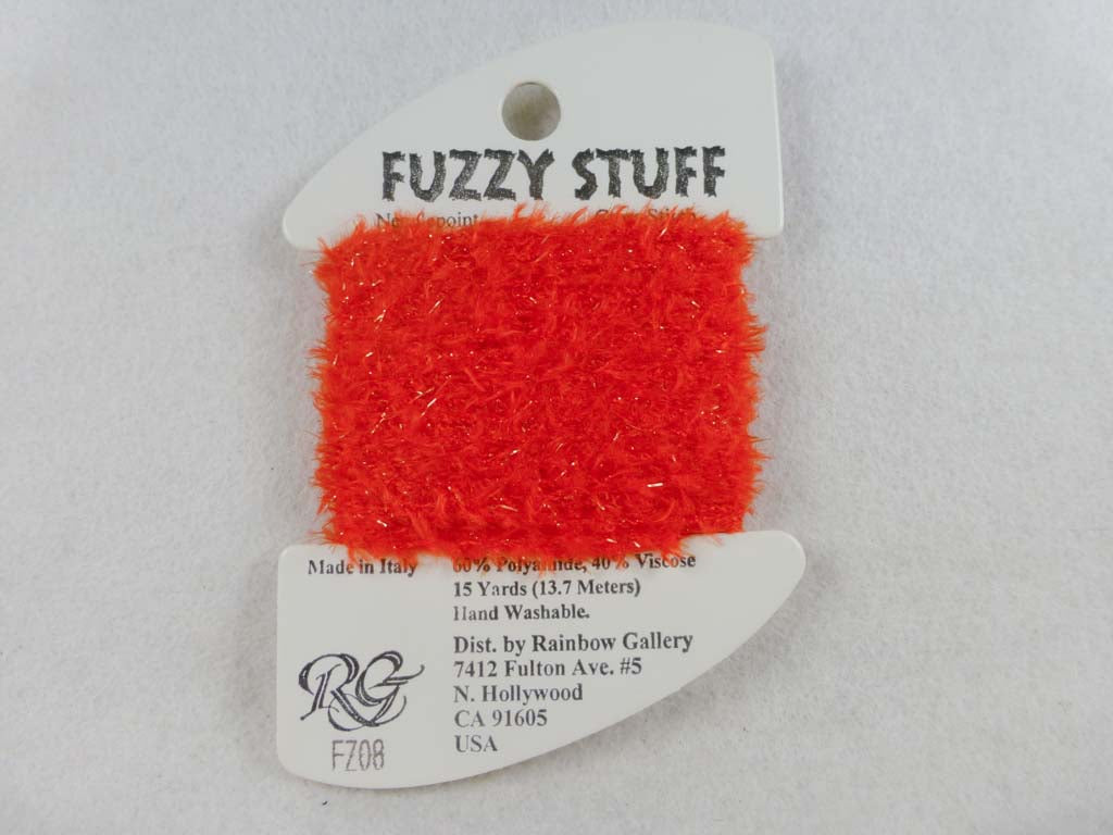 Fuzzy Stuff FZ08 Brite Orange by Rainbow Gallery From Beehive Needle Arts