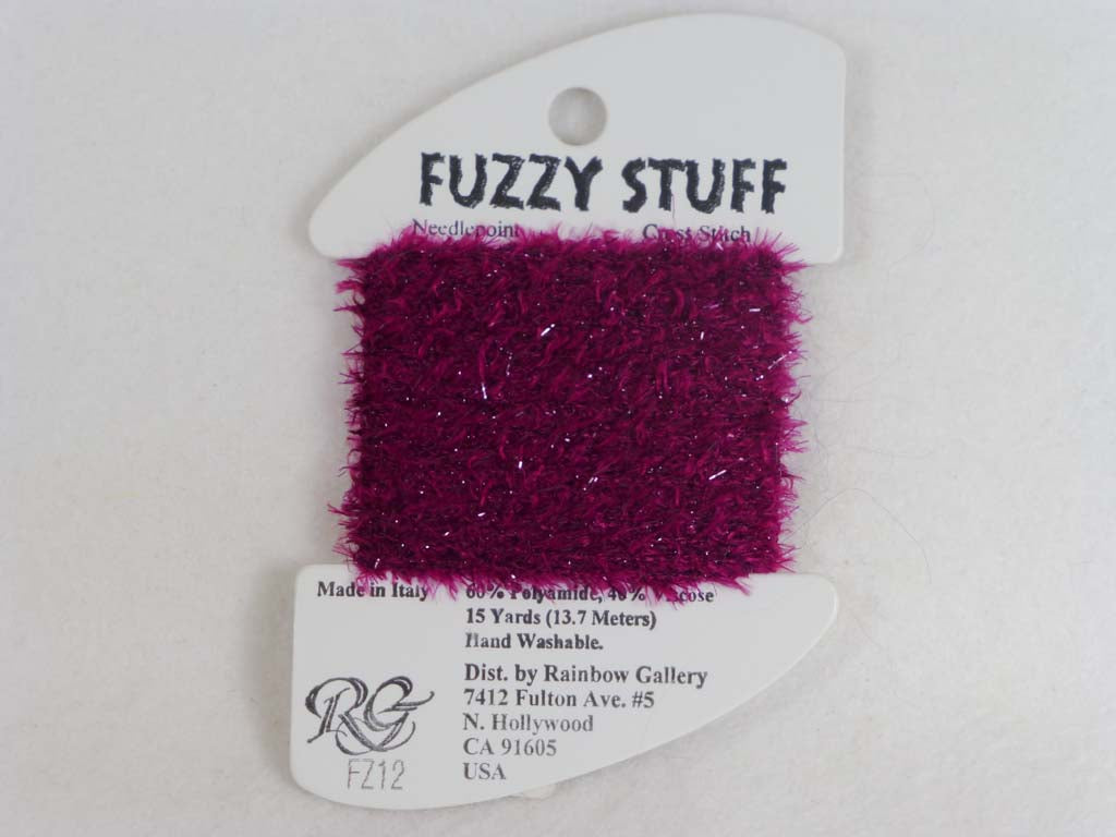 Fuzzy Stuff FZ12 Cranberry by Rainbow Gallery From Beehive Needle Arts