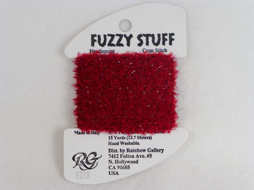 Fuzzy Stuff FZ13 Red by Rainbow Gallery From Beehive Needle Arts