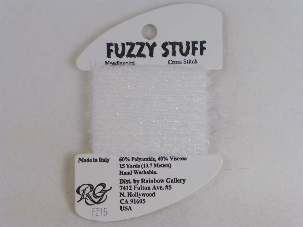 Fuzzy Stuff FZ15 White by Rainbow Gallery From Beehive Needle Arts