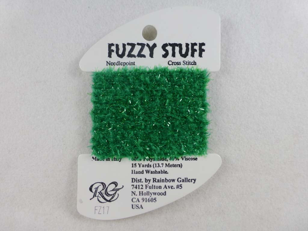 Fuzzy Stuff FZ17 Christmas Green by Rainbow Gallery From Beehive Needle Arts