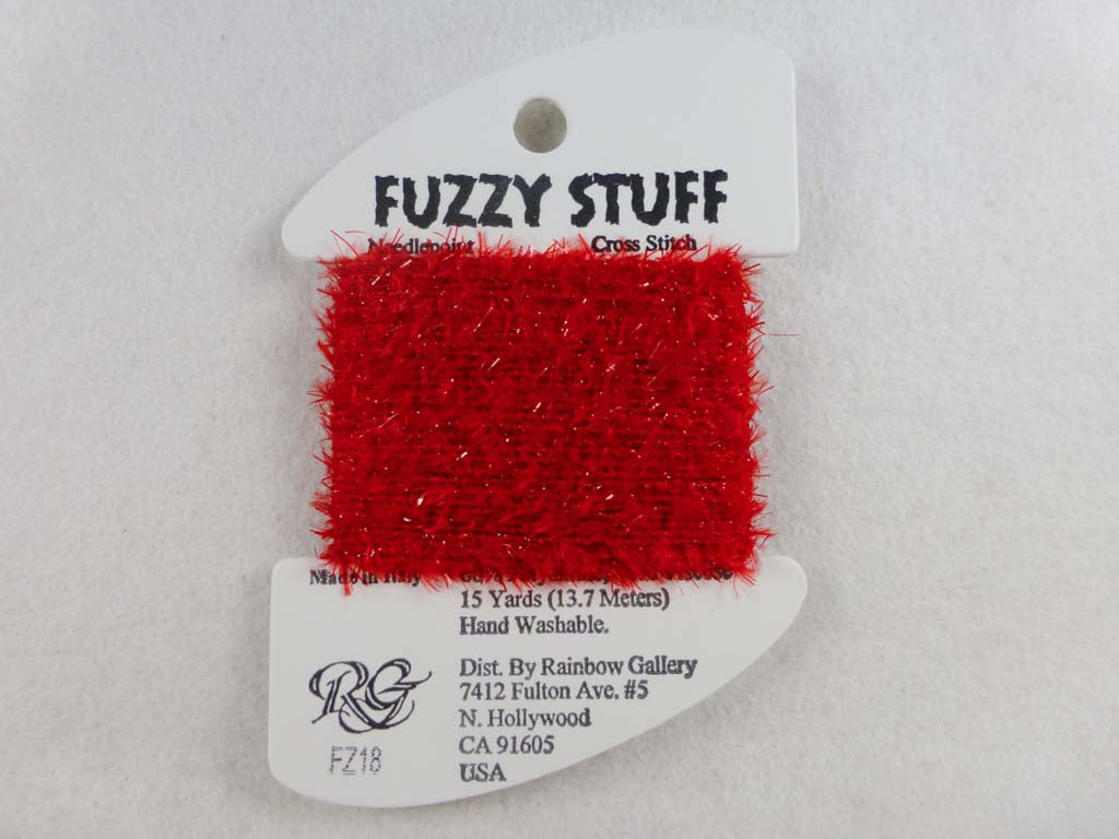 Fuzzy Stuff FZ18 Christmas Red by Rainbow Gallery From Beehive Needle Arts