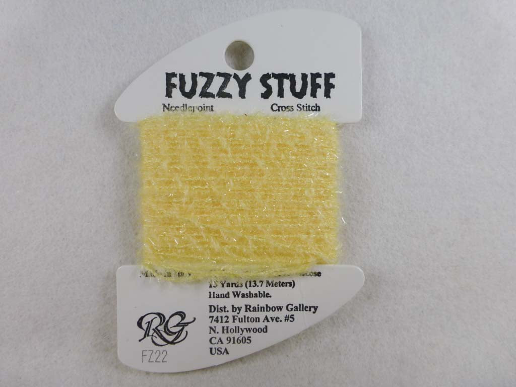 Fuzzy Stuff FZ22 Yellow by Rainbow Gallery From Beehive Needle Arts