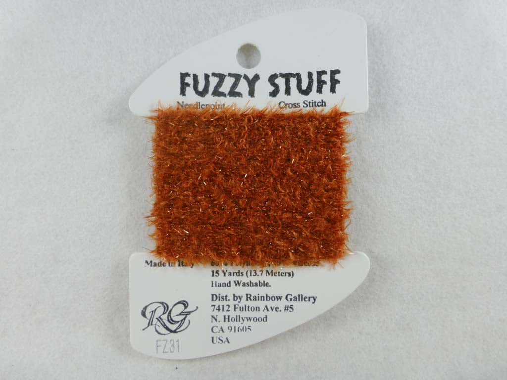 Fuzzy Stuff FZ31 Dark Golden Brown by Rainbow Gallery From Beehive Needle Arts