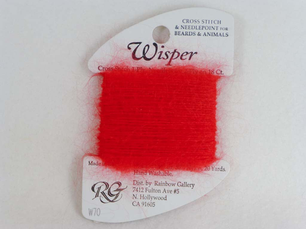 Wisper W70 Red by Rainbow Gallery From Beehive Needle Arts