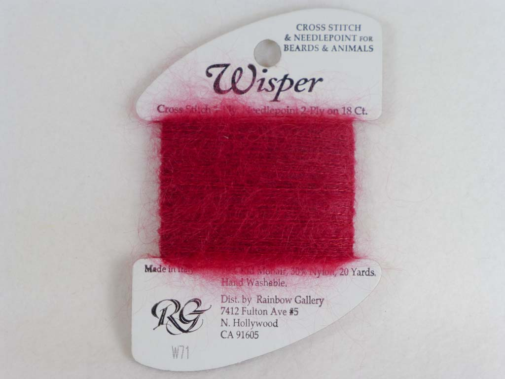 Wisper W71 Dark Red by Rainbow Gallery From Beehive Needle Arts