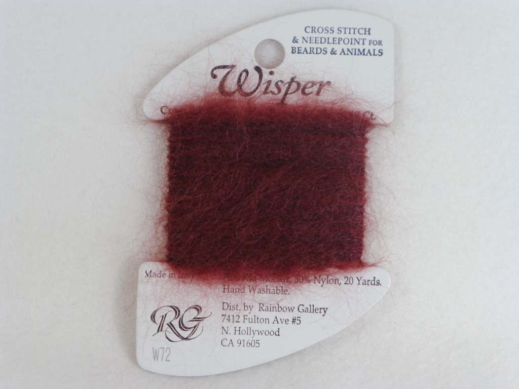 Wisper W72 Burgundy by Rainbow Gallery From Beehive Needle Arts