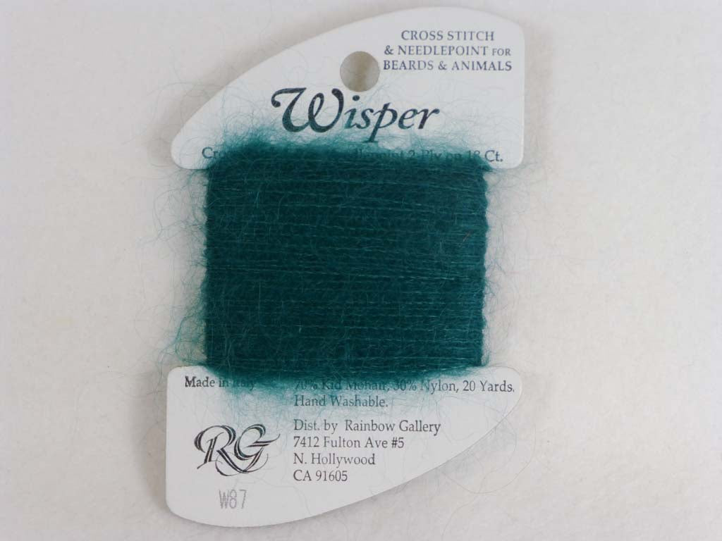 Wisper W87 Christmas Green by Rainbow Gallery From Beehive Needle Arts