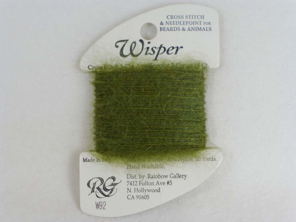 Wisper W92 Olive by Rainbow Gallery From Beehive Needle Arts