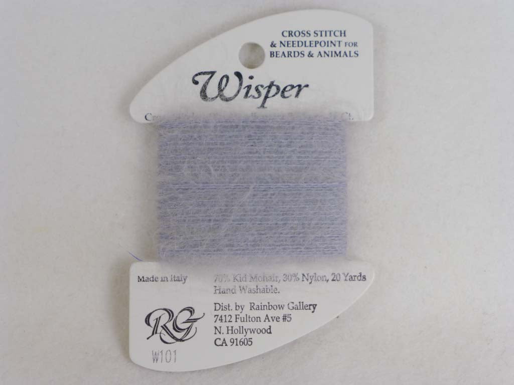 Wisper W101 Pearl Gray by Rainbow Gallery From Beehive Needle Arts