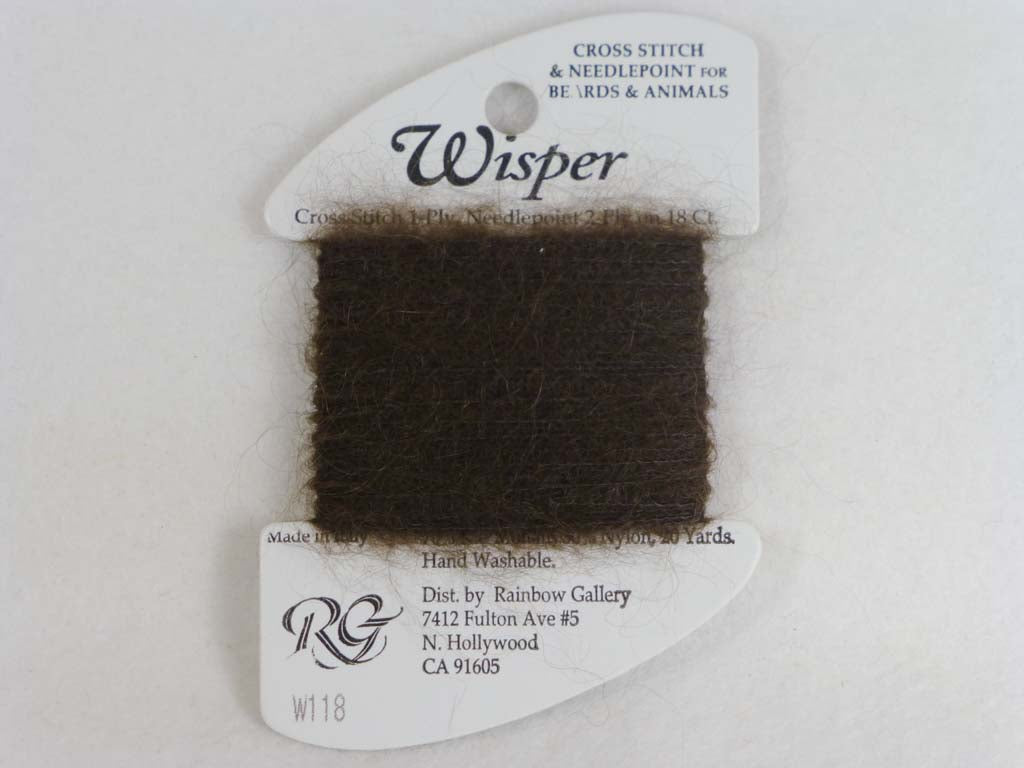 Wisper W118 Dark Chocolate by Rainbow Gallery From Beehive Needle Arts