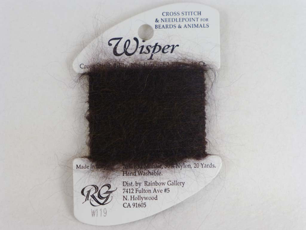 Wisper W119 Espresso by Rainbow Gallery From Beehive Needle Arts