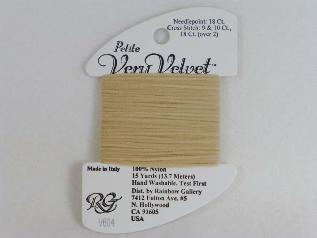 Petite Very Velvet V604 Taupe by Rainbow Gallery From Beehive Needle Arts
