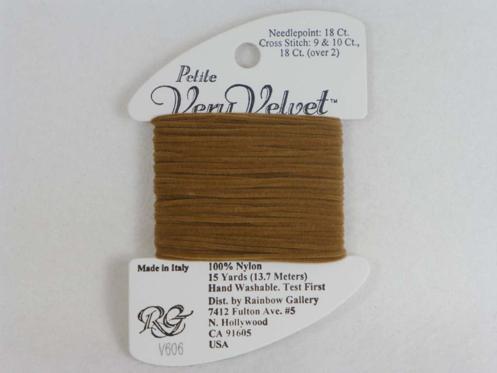 Petite Very Velvet V606 Tan by Rainbow Gallery From Beehive Needle Arts