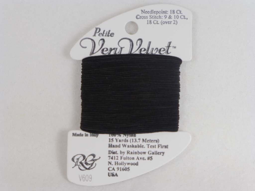 Petite Very Velvet V609 Midnight Brown by Rainbow Gallery From Beehive Needle Arts
