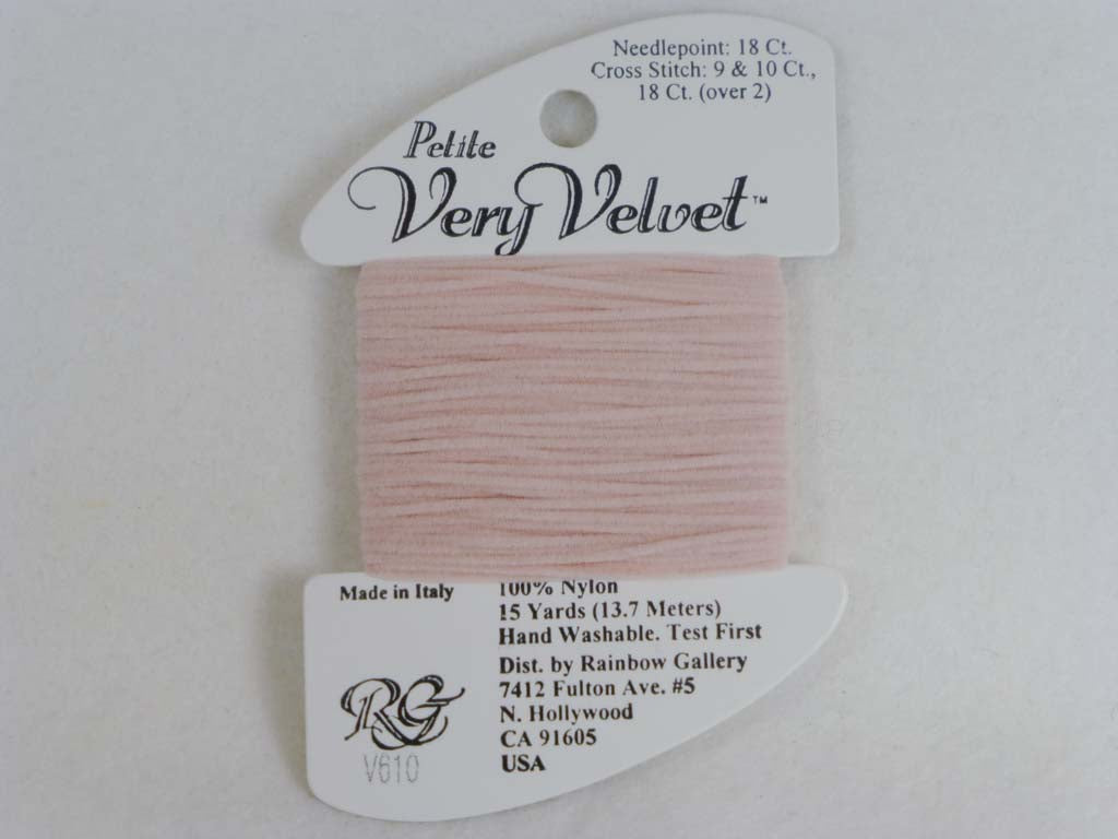 Petite Very Velvet V610 Pink by Rainbow Gallery From Beehive Needle Arts