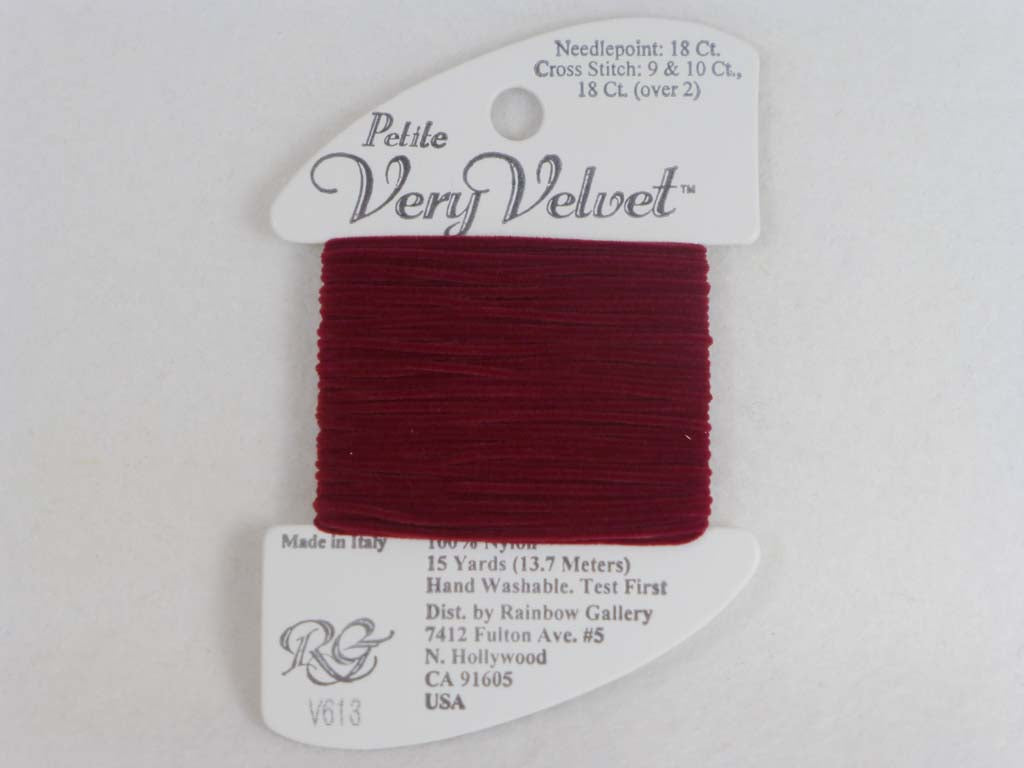 Petite Very Velvet V613 Burgundy by Rainbow Gallery From Beehive Needle Arts