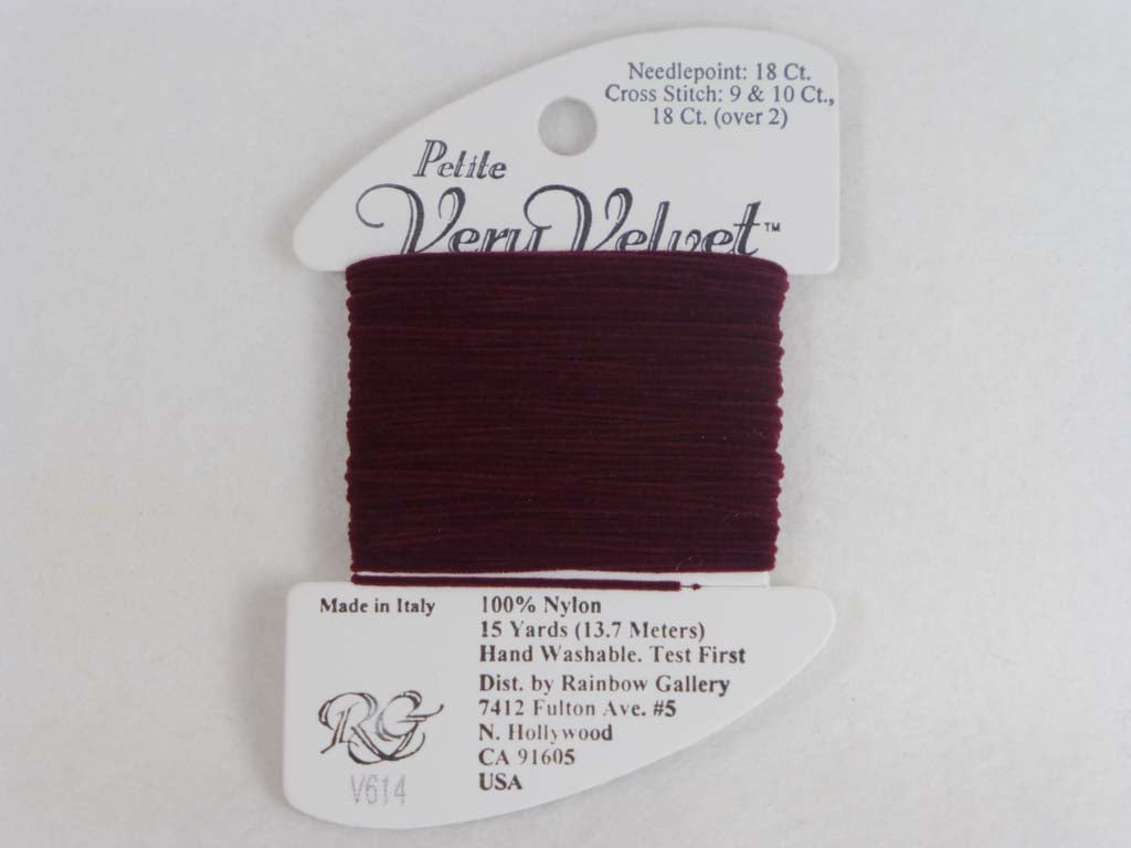 Petite Very Velvet V614 Garnet by Rainbow Gallery From Beehive Needle Arts