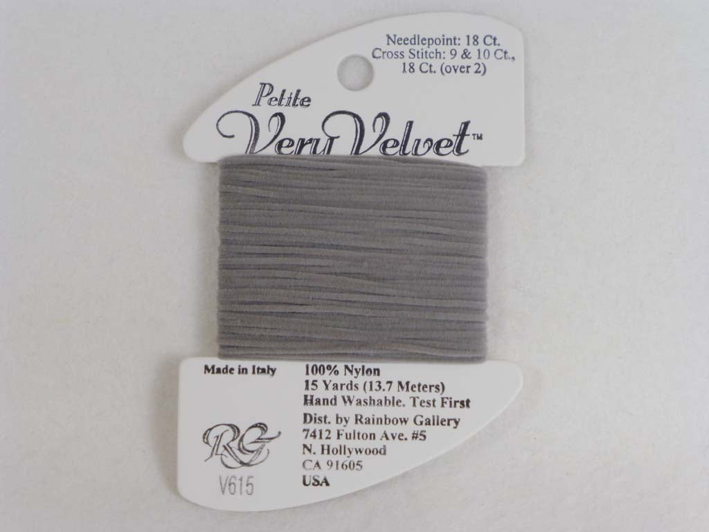 Petite Very Velvet V615 Lite Gray by Rainbow Gallery From Beehive Needle Arts