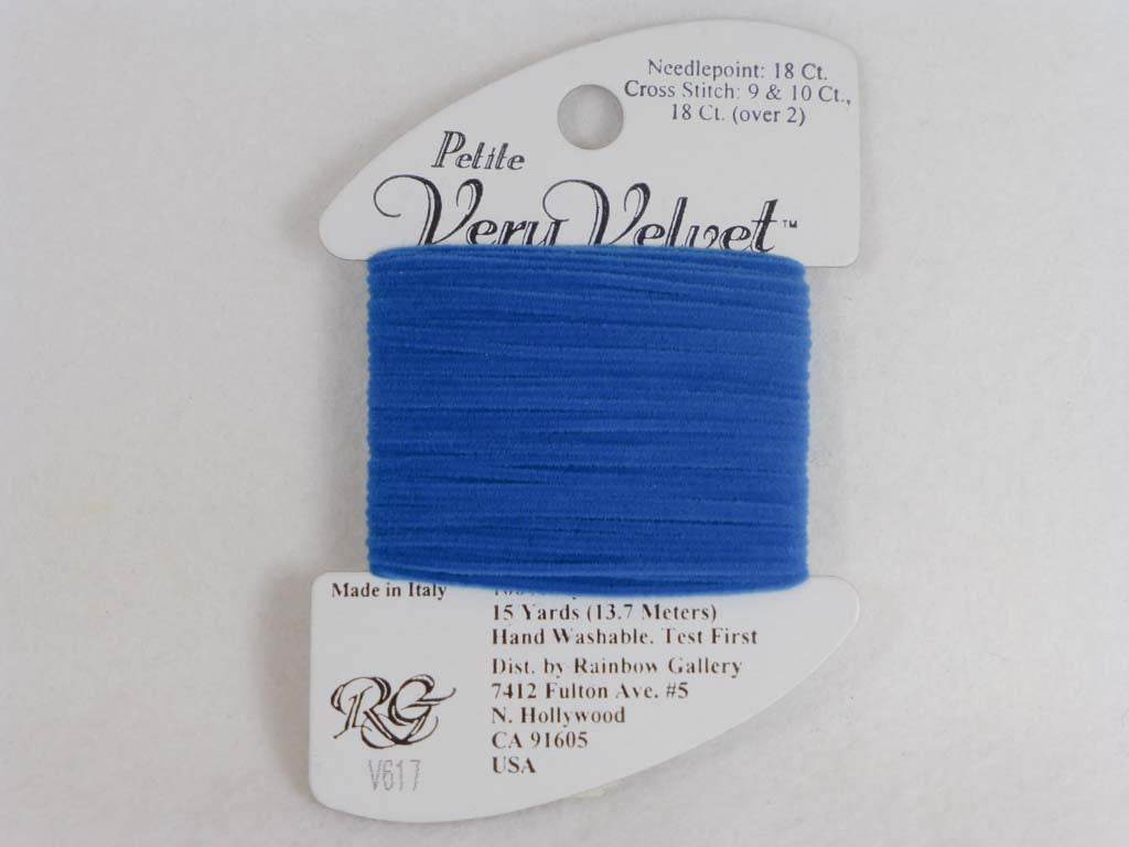 Petite Very Velvet V617 Peacock Blue by Rainbow Gallery From Beehive Needle Arts