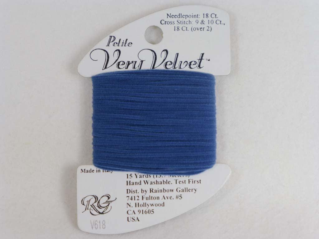 Petite Very Velvet V618 Antique Blue by Rainbow Gallery From Beehive Needle Arts