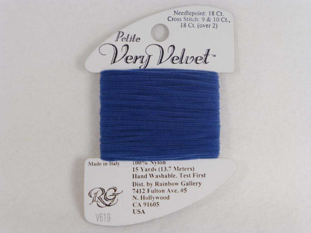 Petite Very Velvet V619 Demin by Rainbow Gallery From Beehive Needle Arts