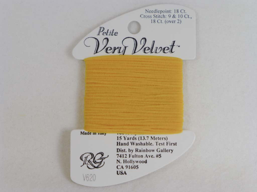 Petite Very Velvet V620 Yellow by Rainbow Gallery From Beehive Needle Arts