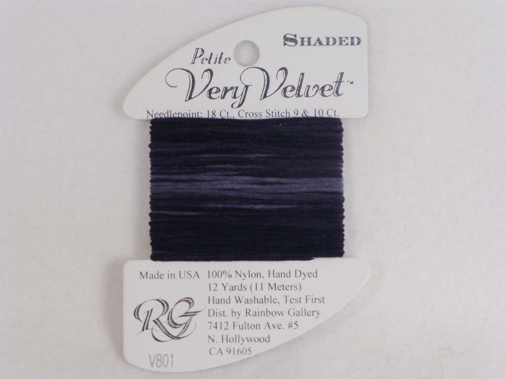 Shaded Very Velvet V801 Charcoals by Rainbow Gallery From Beehive Needle Arts