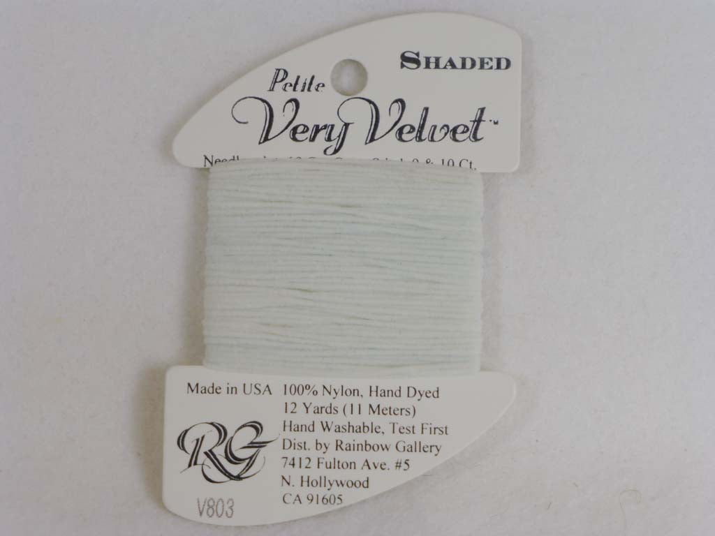 Shaded Very Velvet V803 Blue Blush by Rainbow Gallery From Beehive Needle Arts