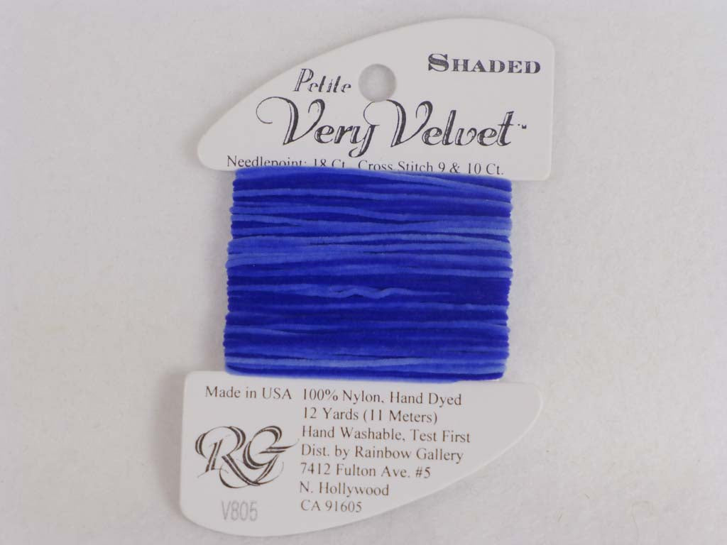 Shaded Very Velvet V805 Sapphire Blues by Rainbow Gallery From Beehive Needle Arts