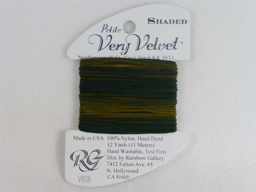 Shaded Very Velvet V808 Chocolates by Rainbow Gallery From Beehive Needle Arts