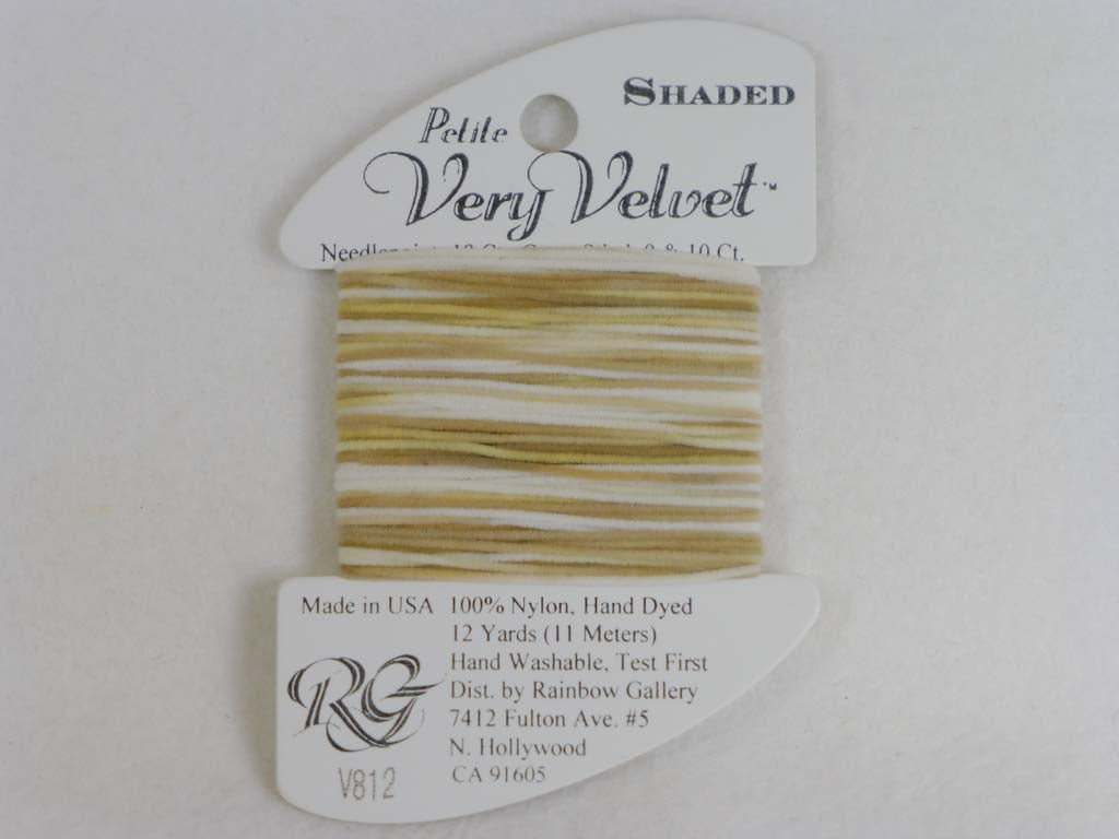 Shaded Very Velvet V812 Deserts Sands by Rainbow Gallery From Beehive Needle Arts