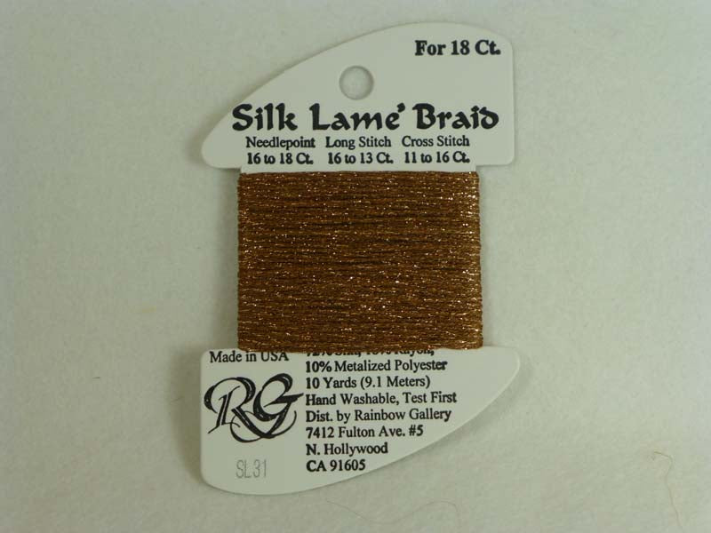 Silk Lame Braid SL31 Copper