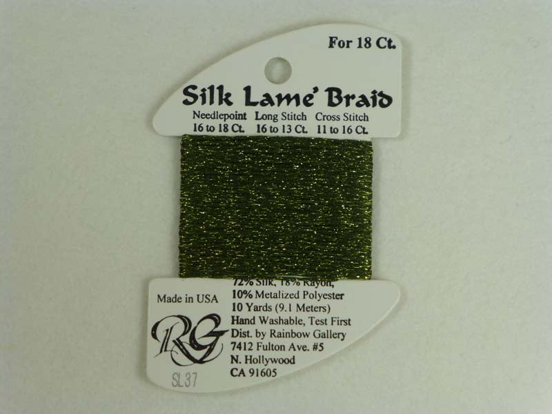Silk Lame Braid SL37 Dark Avocado