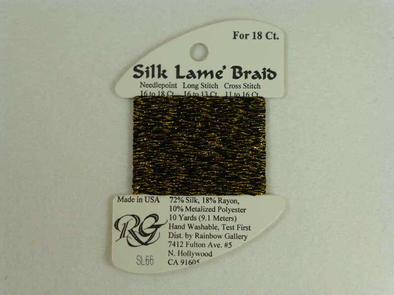 Silk Lame Braid SL66 Antique Gold