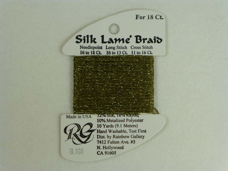 Silk Lame Braid SL103 Olive