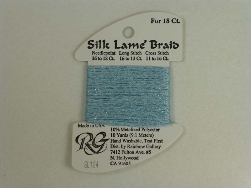 Silk Lame Braid SL124 Blue Glow