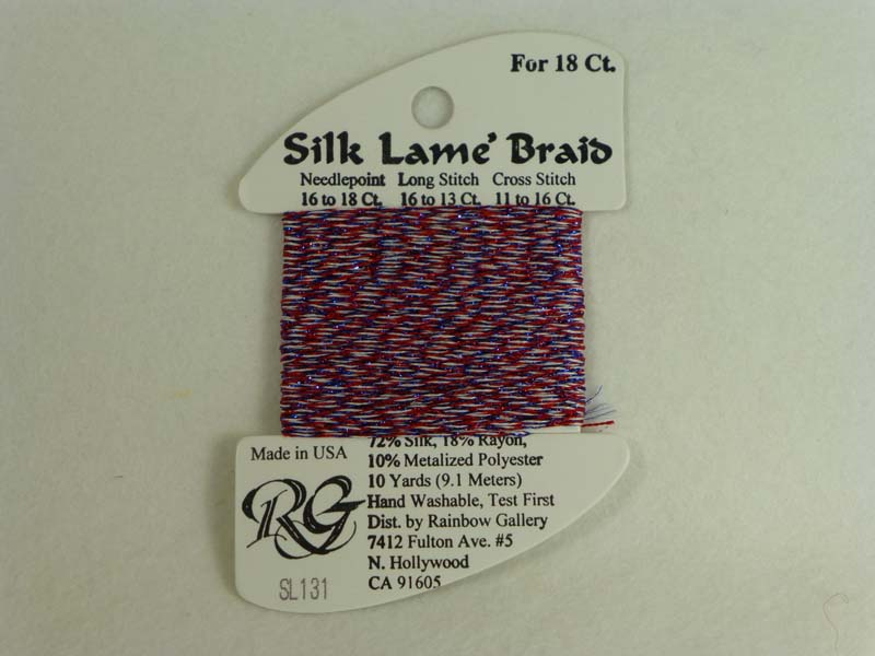 Silk Lame Braid SL131 Fourth of July