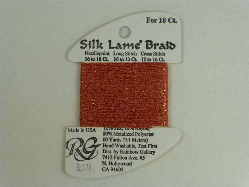 Silk Lame Braid SL176 Coral
