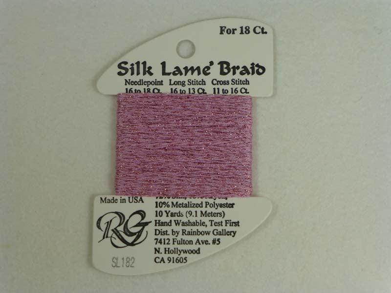 Silk Lame Braid SL182 Chateau Rose